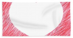 Hand-drawn Red Heart Shape Hand Towel