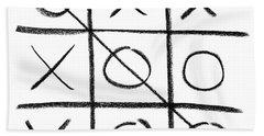 Hand-drawn Tic-tac-toe Game Hand Towel