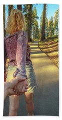 Hand In Hand Sequoia Hiking Hand Towel
