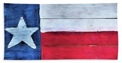 Hand Painted Texas Flag Bath Towel
