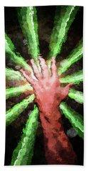 Handful Of Energy Bath Towel by Phil Perkins