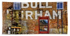 Bath Towel featuring the photograph Handpainted Sign On Brick Wall by David and Carol Kelly