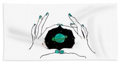 Hands Around Saturn Bath Towel