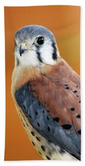Handsome American Kestrel Bath Towel