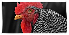 Handsome Plymouth Rock Rooster Bath Towel