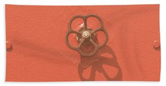 Handwheel - Orange Bath Towel
