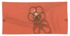 Handwheel - Orange Bath Towel