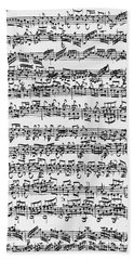 Handwritten Score Of Sonata No 1 For Solo Violin Hand Towel