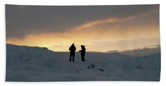 Hand Towel featuring the photograph Hanging Around Iceland by Dubi Roman