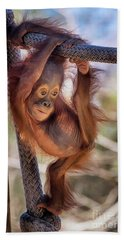 Hanging Out Bath Towel by Stephanie Hayes