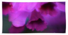 Hanging Purple Tropical Flowers Up Close- Kauai- Hawaii Bath Towel