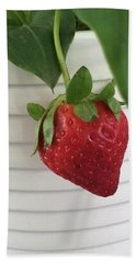 Hanging Strawberry Bath Towel