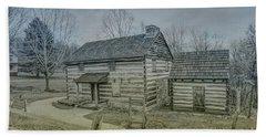 Hand Towel featuring the digital art Hannastown Log Cabin One by Randy Steele