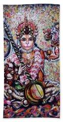 Hanuman - Ecstatic Joy In Rama Kirtan Bath Towel