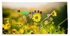 Happiness Hand Towel by Joseph S Giacalone