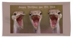 Happy Birthday Bath Towel by Dennis Baswell