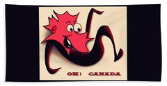 Happy Canada Day Hand Towel by Iris Gelbart