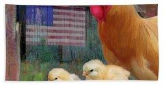 Happy Chicken  Hand Towel by Julianne Ososke