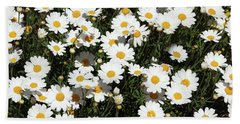 Happy Daisies- Photography By Linda Woods Hand Towel