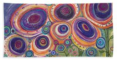 Happy Dance Bath Towel by Tanielle Childers