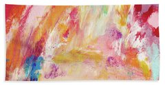 Happy Day- Abstract Art By Linda Woods Bath Towel