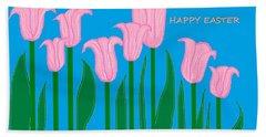 Happy Easter 1 Hand Towel by Linda Velasquez
