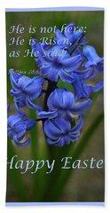 Happy Easter Hyacinth Bath Towel by Ann Bridges