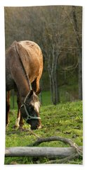 Hand Towel featuring the photograph Happy Grazing by Angela Rath