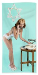 Hand Towel featuring the photograph Happy Hanukkah 5 by Lisa Piper