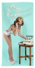 Happy Hanukkah 5 Hand Towel
