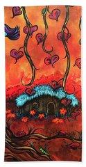 Cabin In The Woods Bath Towel by Dani Abbott