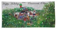 Happy Holidays From Cincinnati Ohio Hand Towel
