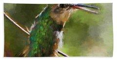 Happy Hummingbird Hand Towel
