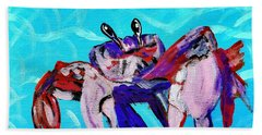 Happy Little Crab  Bath Towel by Scott D Van Osdol