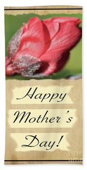 Happy Mothers Day - Card Number 003 By Claudia Ellis Hand Towel