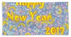 Happy New Year 2017 Hand Towel