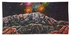 Happy New Year From America's Mountain Hand Towel