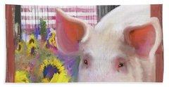 Happy Pig  Bath Towel