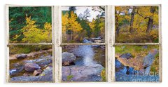 Happy Place Picture Window Frame Photo Fine Art Hand Towel