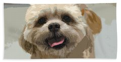 Happy Shih Tzu Hand Towel