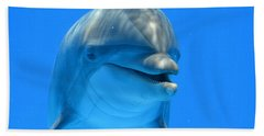 Happy Smiling Dolphin Bath Towel by Richard Bryce and Family