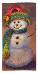Happy Snowman Hand Towel