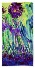 Bath Towel featuring the painting Happy Spring by Joan Hartenstein