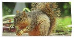 Happy Squirrel Bath Towel