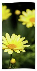 Happy Summer Flowers Hand Towel