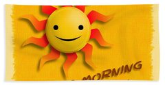 Happy Sun Face Bath Towel