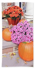 Hand Towel featuring the photograph Happy Thanksgiving by Ann Murphy
