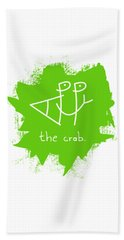 Happy The Crab - Green Hand Towel