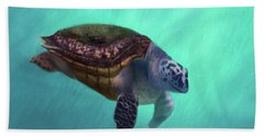 Happy Turtle Bath Towel