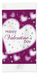 Happy Valentine's Day Bath Towel